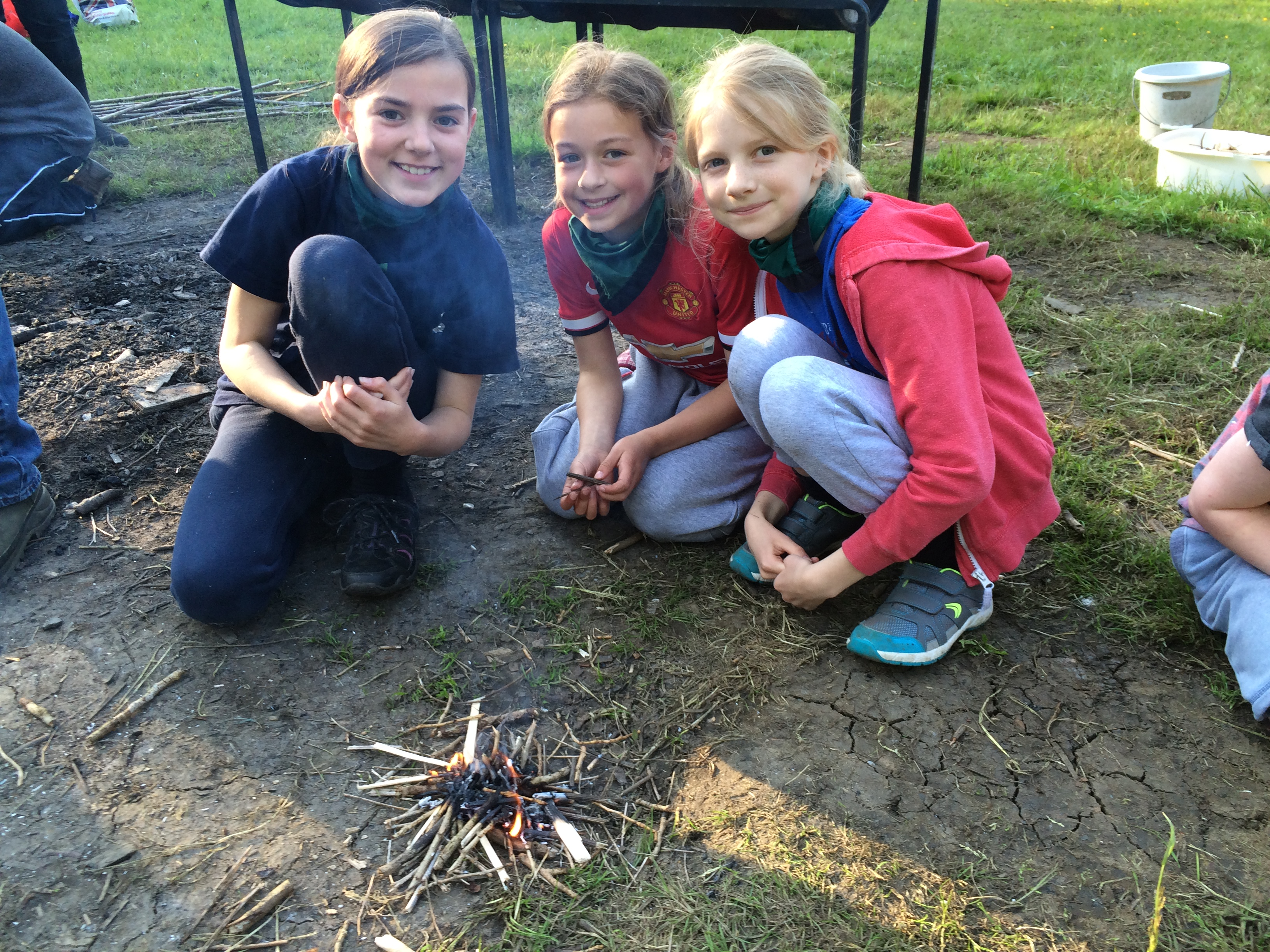 Cubs Firelighting at Welton Campsite May 2016
